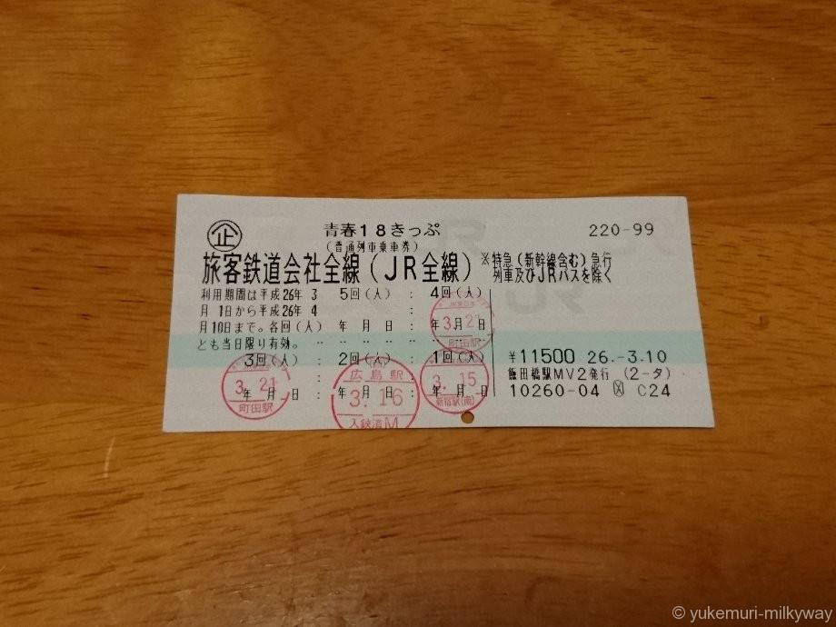 青春18きっぷ(マルス発券)