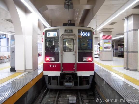 東武6050系 快速東武日光行き 6167F モハ6167 @浅草