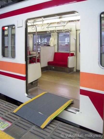 東武6050系 快速会津田島行き ホーム渡し板 6151F モハ6151 @浅草