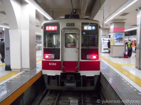 東武6050系 区間急行新栃木行き 6160F モハ6160 @浅草