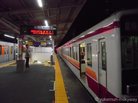 東武6050系 区間急行新栃木行き 曳舟駅1番ホーム @曳舟